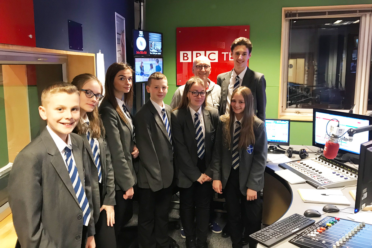 Visit to BBC Radio Tees