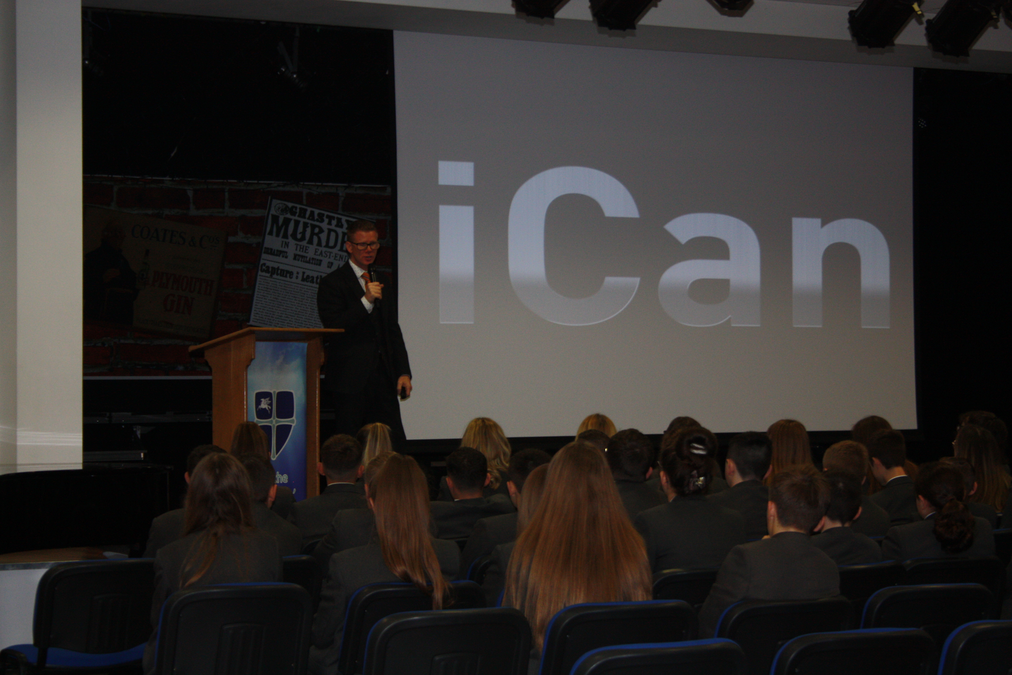 Richard McCann visits Wellfield School